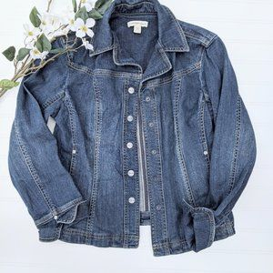 Coldwater Creek Classic Fitted Denim Jacket